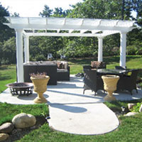 Wholesale Building Materials - Crown Column Fiberglass Pergolas